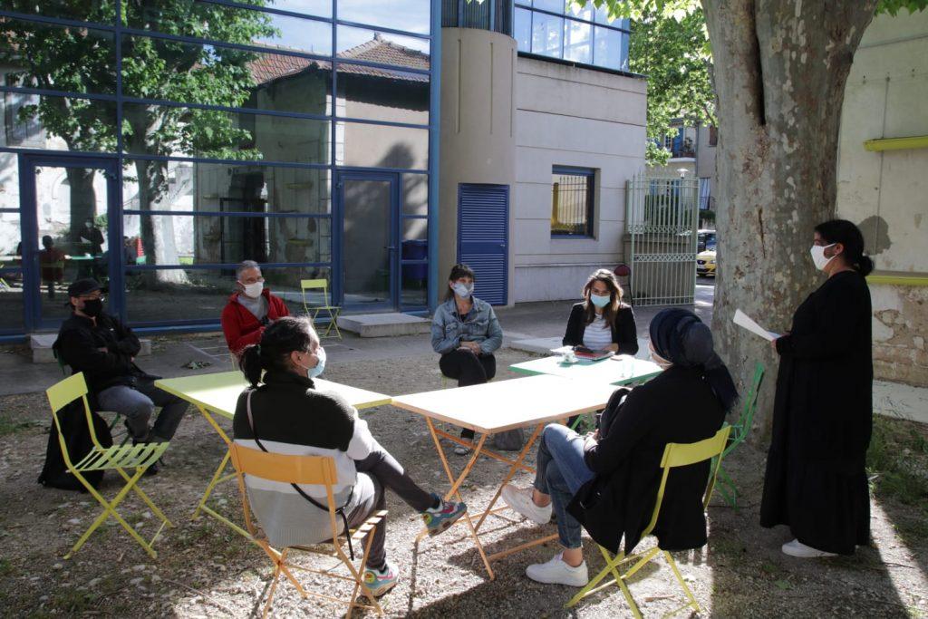réunion du Conseil Citoyen au Centre Social et Culturel de Saint Gilles.