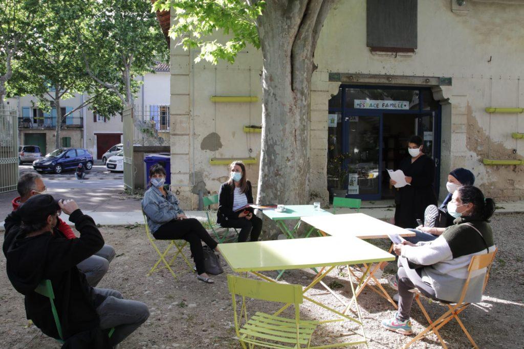 Réunion à Saint Gilles du Conseil Citoyen à propos du FONDS DE PARTICIPATION DES HABITANTS à La Croisée.