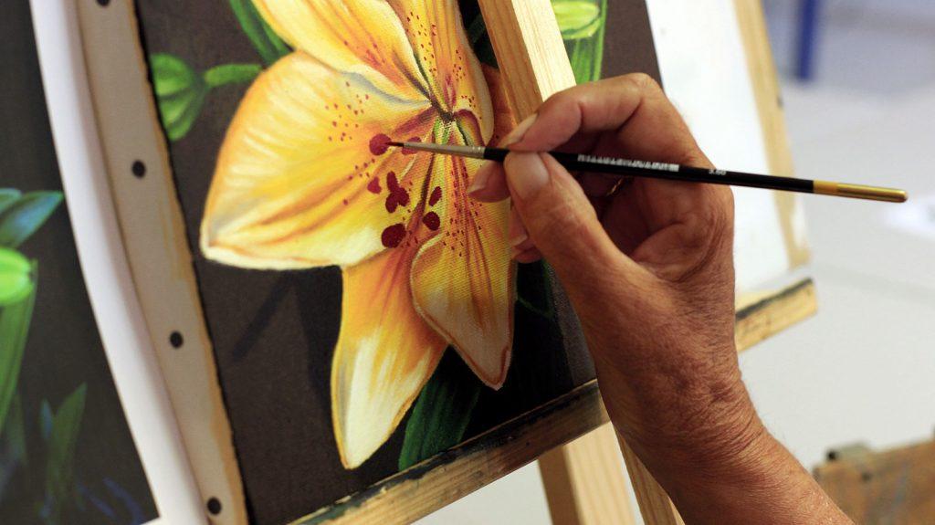 peindre ensemble au centre social et culturel de Saint Gilles