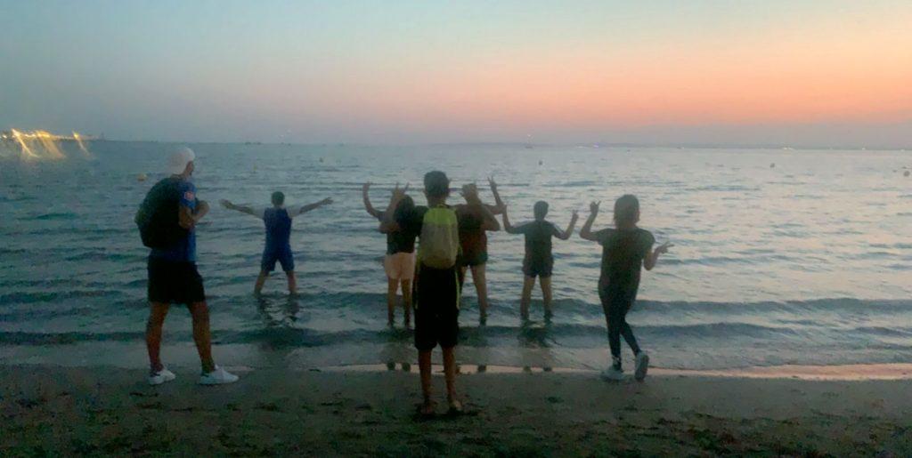 L'accueil des jeunes de Saint Gilles à la plage
